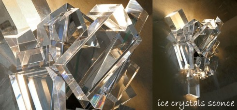 Ice Crystals Sconces
